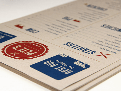 what type of paper is ideal for menus