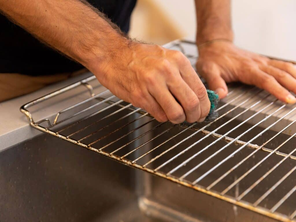 clean grease off oven racks