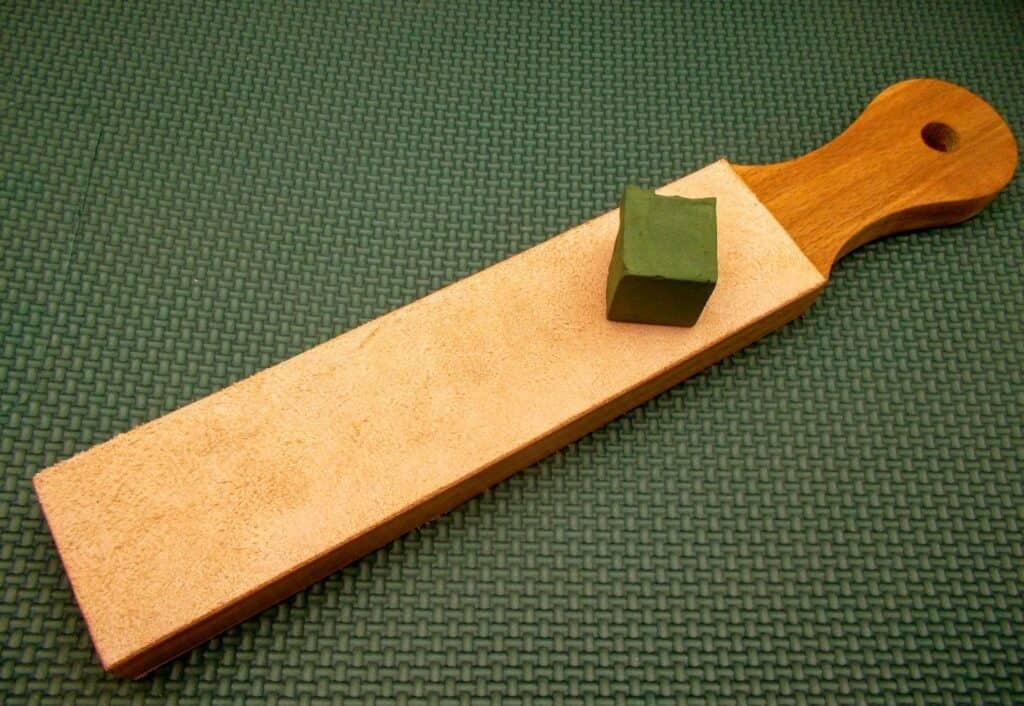 how to use a leather strop with compound