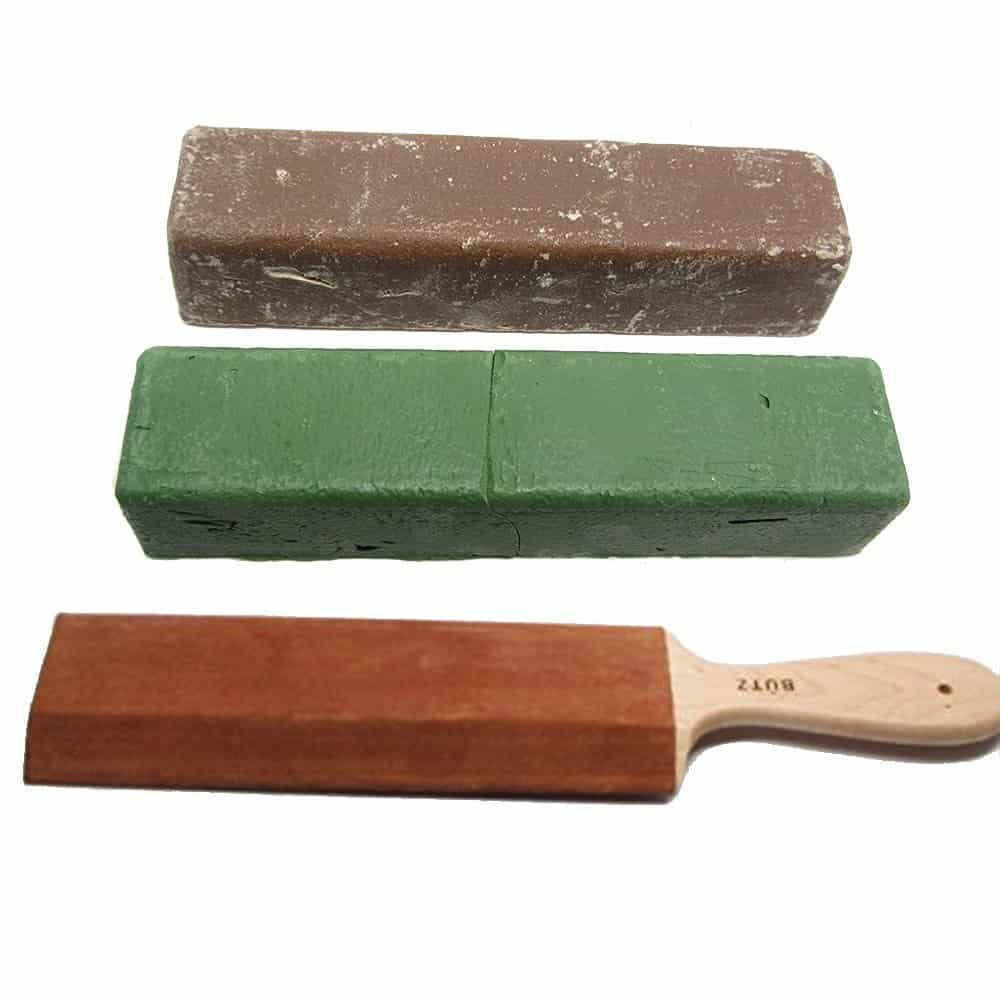honing compound for leather strop