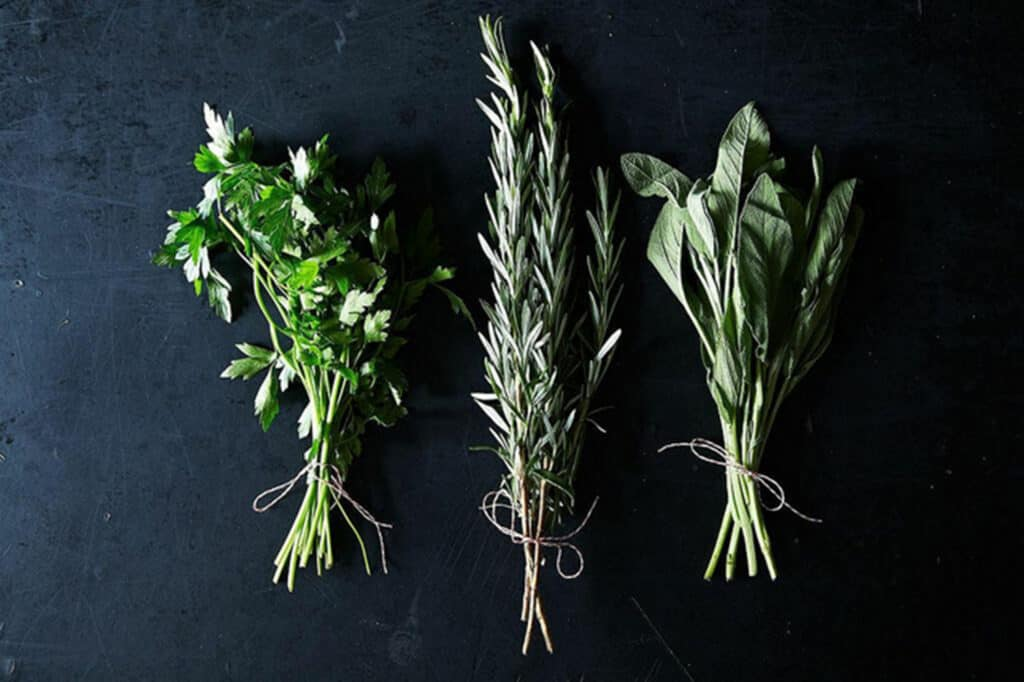 herbs for salmon